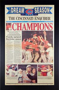 Cincinnati Reds World Series Newspaper Print Framed 10/22/1990 Jose Rijo