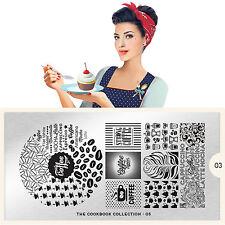 Moyou London Stamping Schablonen Plate Kochen Kaffee Coffee Cook Book #03