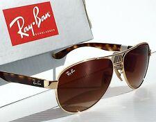 NEW* Ray Ban AVIATOR Tortoise Gold Havana Brown Gradient Sunglass RB 3457 001/13