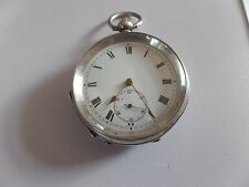 Antique Solid Silver Pocket Watch 1915 Working