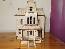 Laser cut wooden Bates house model Kit
