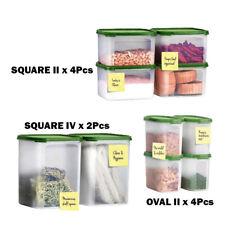 Tupperware 10 Pcs Modular Mates Oval Square Set Oval II / Square II & IV-New