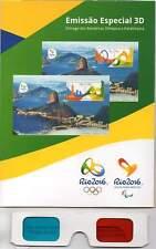 BRÉSIL 2016. Kit avec 2 blocs en 3D des Jeux Olympiques et Paralympiques d'été