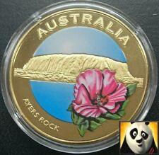 2010 Australia 40mm Ayers Rock medalla moneda de bronce de color sólo 10,000! + certificado De Autenticidad