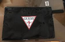GUESS Laptop Case Bag~Vinyl~Shiny Black zip top~NWT