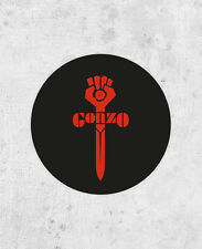 Gonzo Sticker, Hunter S. Thompson, Fear and loathing, Rum Diary, Hell's Angels