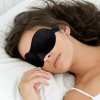 Masque de sommeil des yeux bandeau sur les yeux du sommeil Noir Voyage de s T5S4