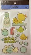 "1454 RECOLLECTIONS Epoxy Stickers - BABY BATH TIME Glittery - 8""x4"""