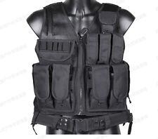 Law Enforcement SWAT Police Tactical Military VEST Combat Pistol-Black CS