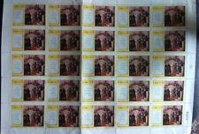 Francobollo Cuba 1 CORREROS Lenin 1976 foglio da 25 pezzi