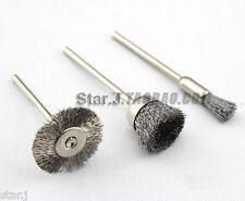 "150pcs Dental Lab Wire Steel Cleaning Brushes Polishing Wheels 3/32"" Shank"