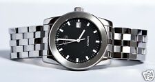OCTO SWISS STAINLESS STEEL BLACK DIAL AUTOMATIC WATCH EG00-004-1-2EB