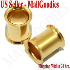 1115 Gold Double Flare Tunnels 0 Gauge 0G Ear Plugs 8mm