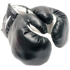 20 OZ BOXING PRACTICE TRAINING GLOVES BLACK Sparring Faux Leather Extra Large XL