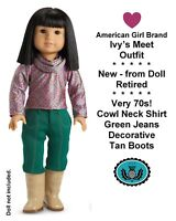 American Girl_IVY's MEET OUTFIT with BOOTS_Retired_NEW from Doll