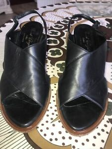 Robert Clergerie  Black Wedge Shoes Size 38 1/2