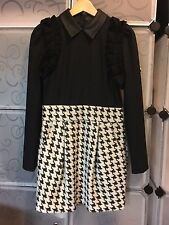 Dotacoko Winter/Autumn Houndstooth Dress Black Size 10