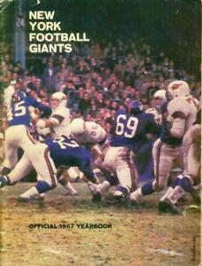 New York Giants Football Official 1967 NFL Yearbook Fran Tarkenton Earl Morrall