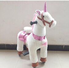 SMALL Trotting Action Horse Pony Ride On  Unicorn Ages 2-5 Boys & Girl Cycle