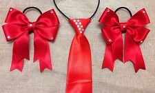 childs equestrian showing set  RED with CRYSTALS Lead Rein