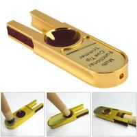U Shape Pool Cue Tip Stick Shaper/Scuffer/Tapper/Burnisher Repairer Tool Gold US