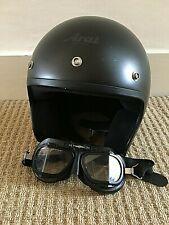 Arai Freeway Motorcycle Helmet & Halycon Motorcycle goggles.
