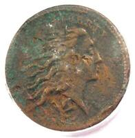 1793 Flowing Hair Wreath Cent 1C (Vine Bars Edge) - PCGS Genuine - Strong Detail