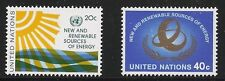 United Nations Scott #NY 348-49, Singles 1981 Complete Set FVF MNH
