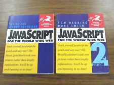 2 Visual Quickstart Guides JavaScript for the World Wide Web 1st & 2nd Editions