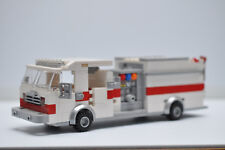 LEGO Fire Truck Engine Rescue Red  White Speed Champions Custom