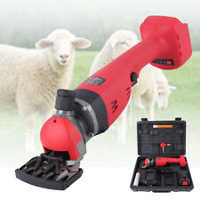 300W Cordless Electric Sheep Goat Shears Wireless Shearing Grooming Clipper