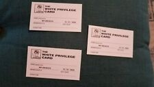 3 White Privilege Joke Membership Cards!