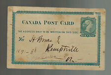 1877 Toronto Canada Postcard Cover Postal Stationery Jones Brother Mackenzie