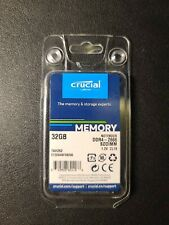Crucial 32GB DDR4 2666 MHz PC4-21300 SODIMM 260-Pin Laptop Memory