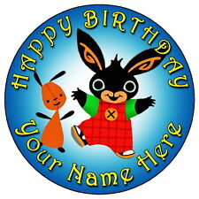 "BING FUN PARTY - 7.5"" PERSONALISED ROUND EDIBLE ICING CAKE TOPPER"