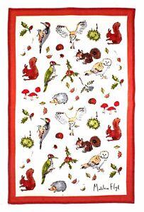 "Ulster Weavers, ""Woodland by Madeleine Floyd"",  Pure cotton printed tea towel."
