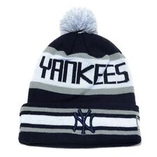 MLB New Era NYY New York Yankees Cuffed Woven The Jake Knit Pom Top Beanie Toque