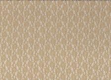 Dark Cream / Beige Stretch Lace Fabric (115cm Wide)