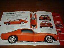 1971 CHEVY CAMARO RS/SS ORIGINAL IMP BROCHURE SPECS INFO 71 CUSTOM 70 72 73 Z/28