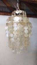 Lampe VERNER PANTON FUN ära Riesige Muschelplättchen Lampe ShellLamp vintage