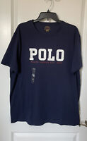NWT Polo Ralph Lauren  Men's  Blue Logo Polo T-Shirt Classic Fit Short Sleeve XL