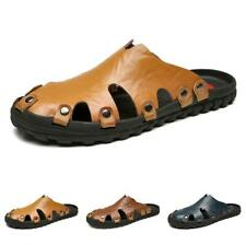 Mens Outdoor Closed Toe Flats Sandals Beach Walking Sports Slippers Shoes 38-47