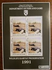 CANS03 1991 Tortoise California Native Species Stamp Souvenir Sheet #21. Turtle