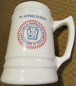 Boys' Club Mug Metropolitan Detroit (BCMD) Michigan Stein Made in USA Vintage