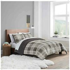 Ugg® Reversible 3-Piece Queen/Full Comforter Set in Charcoal Plaid