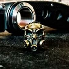 Gas mask BEAD KNIFE KNOT PARACORD BRACELET LANYARD HANDCAST COLLECTIBLE BRONZE