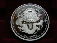 Australia. 2012 1oz - Silver Dollar..   Lunar Series - Year of Dragon..  Proof