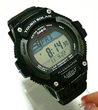 CASIO MEN'S WATCH W-S220-1AV SOLAR POWER World-Time Lap Memory 5 Alarms Digital