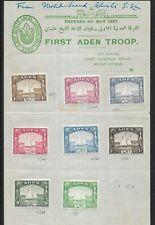 Aden Dow Boy Scouts set to 1rp on troop sheet #1 - #9 cat £138+ (L79)