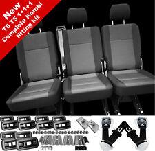 Complete fit kit VW T6 T5 Transporter rear kombi seats 3 x singles 1+1+1 Pandu